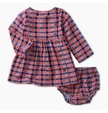 Tea Collection Plaid Woven Baby Dress-Bhutan