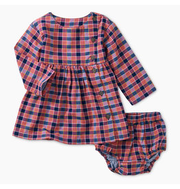 Tea Collection Plaid Woven Baby Dress-Bhutan