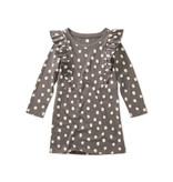 Tea Collection Printed Ruffle Dress- Leopard Spots