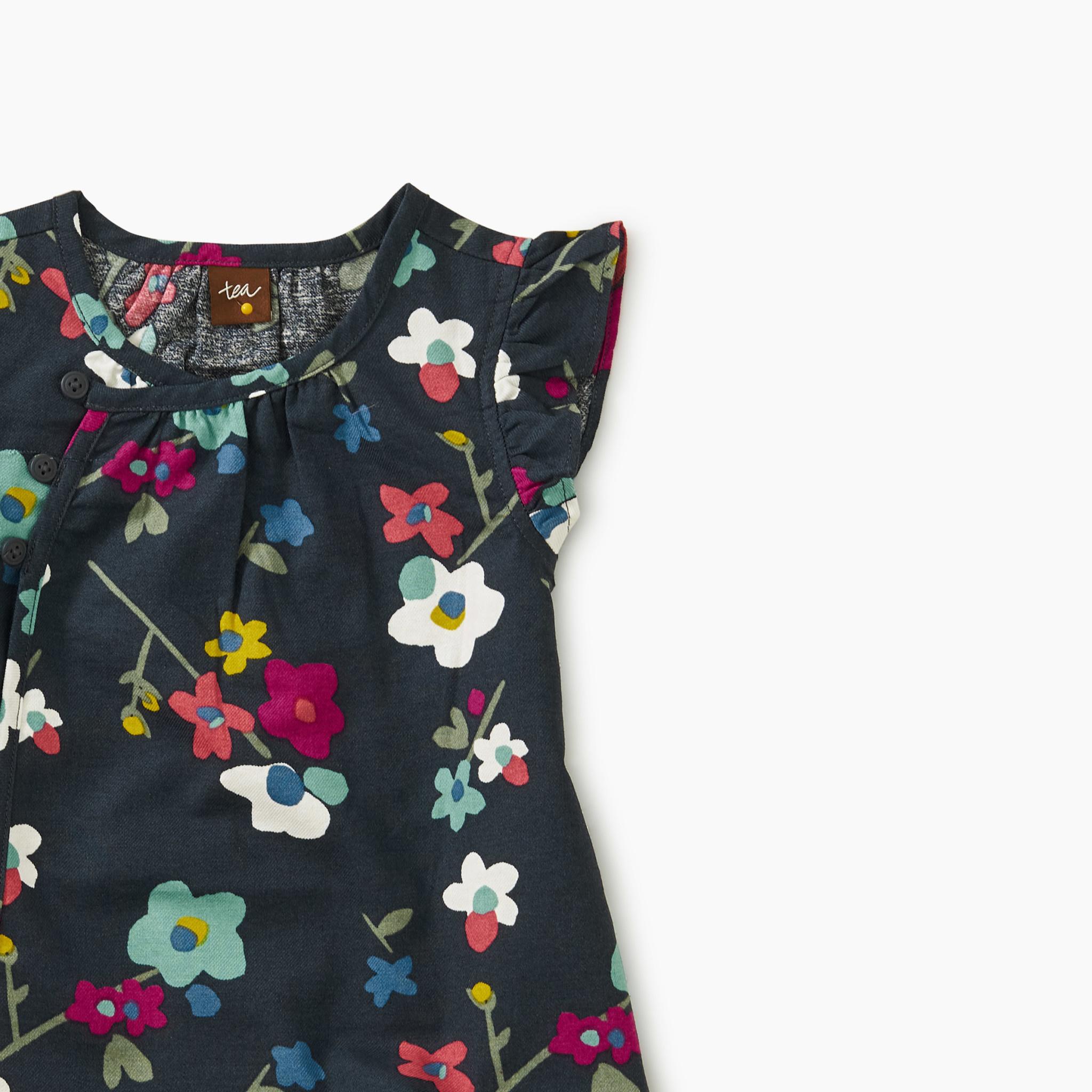 Tea Collection Printed Woven Baby Tunic- Himalayan Blossom
