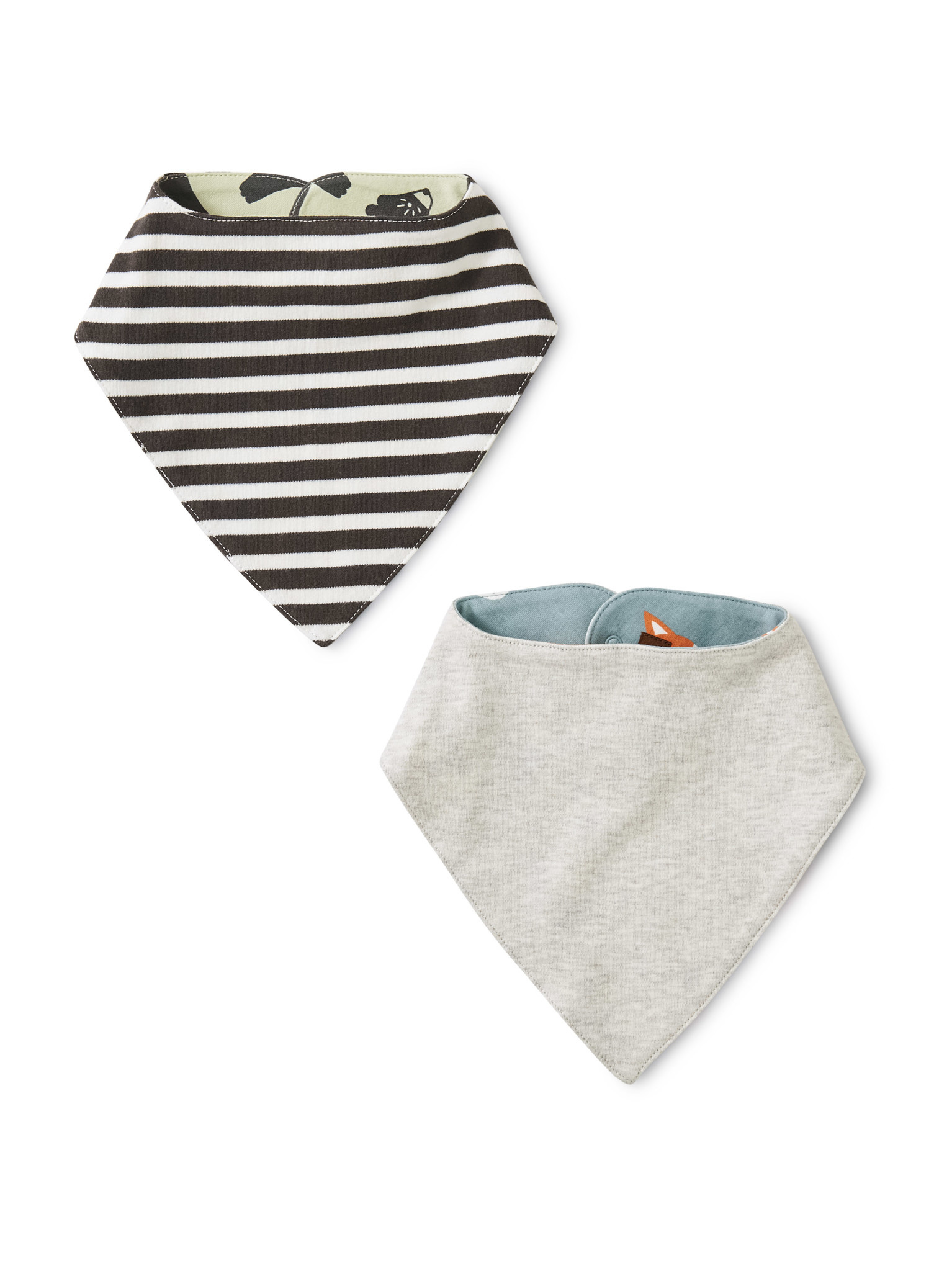 Tea Collection Soft Geo Reversible Bib Two-Pack