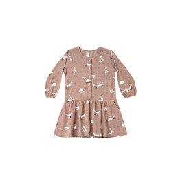 Rylee & Cru Winter Fox Button Dress