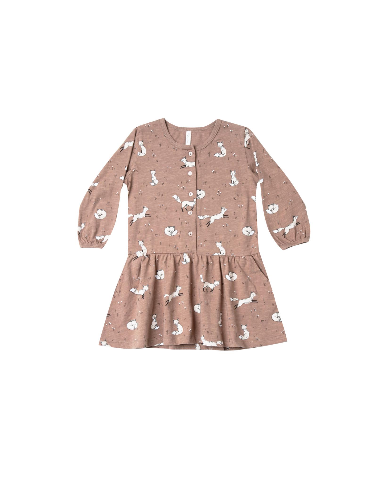 Rylee & Cru Winter Fox Button Dress