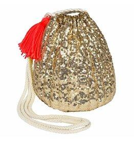 Meri Meri Gold Sequin Small Duffle Bag