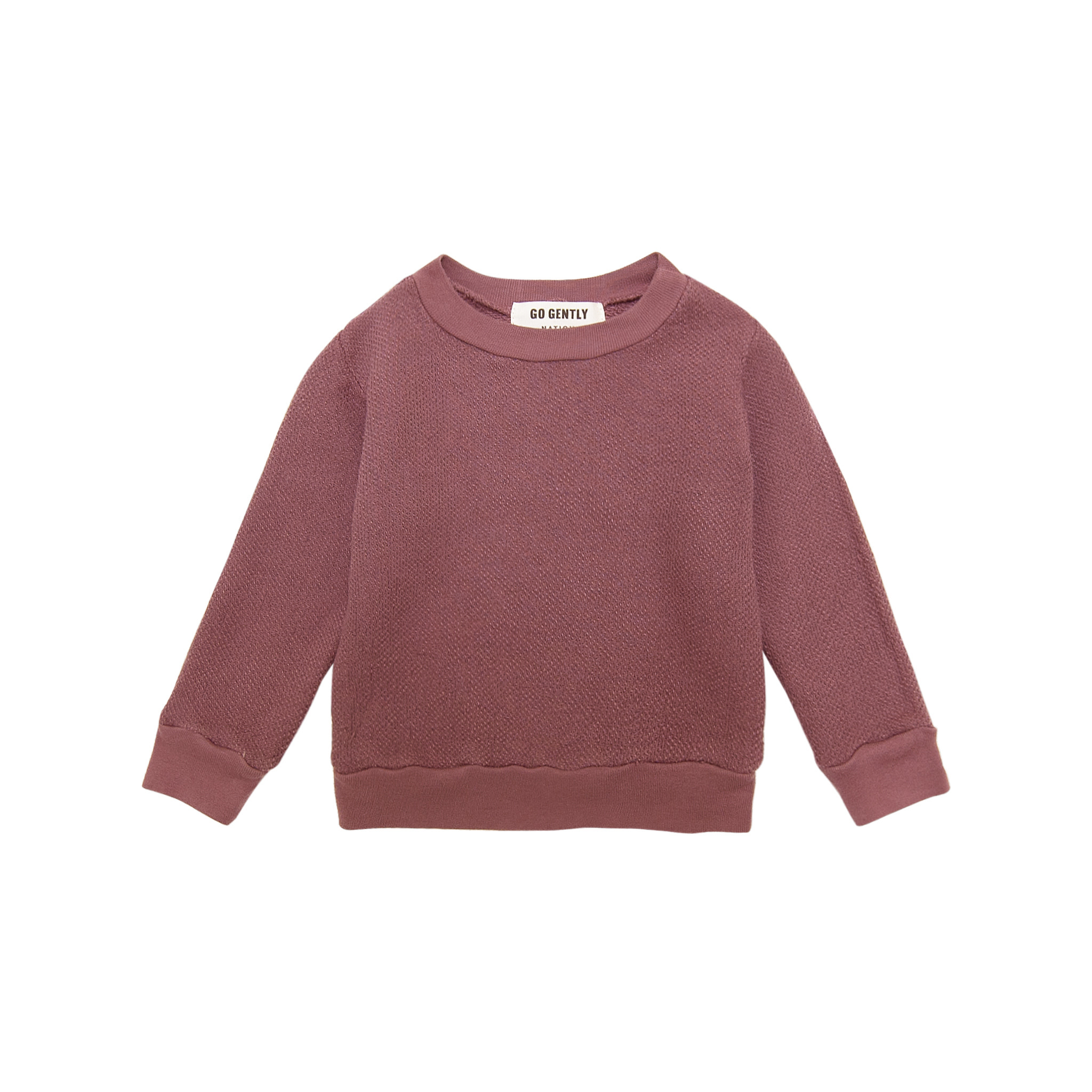 Go Gently Nation Textured Berry Crewneck