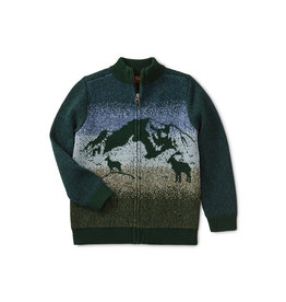 Tea Collection Mallard Mountaineer Zip Cardigan