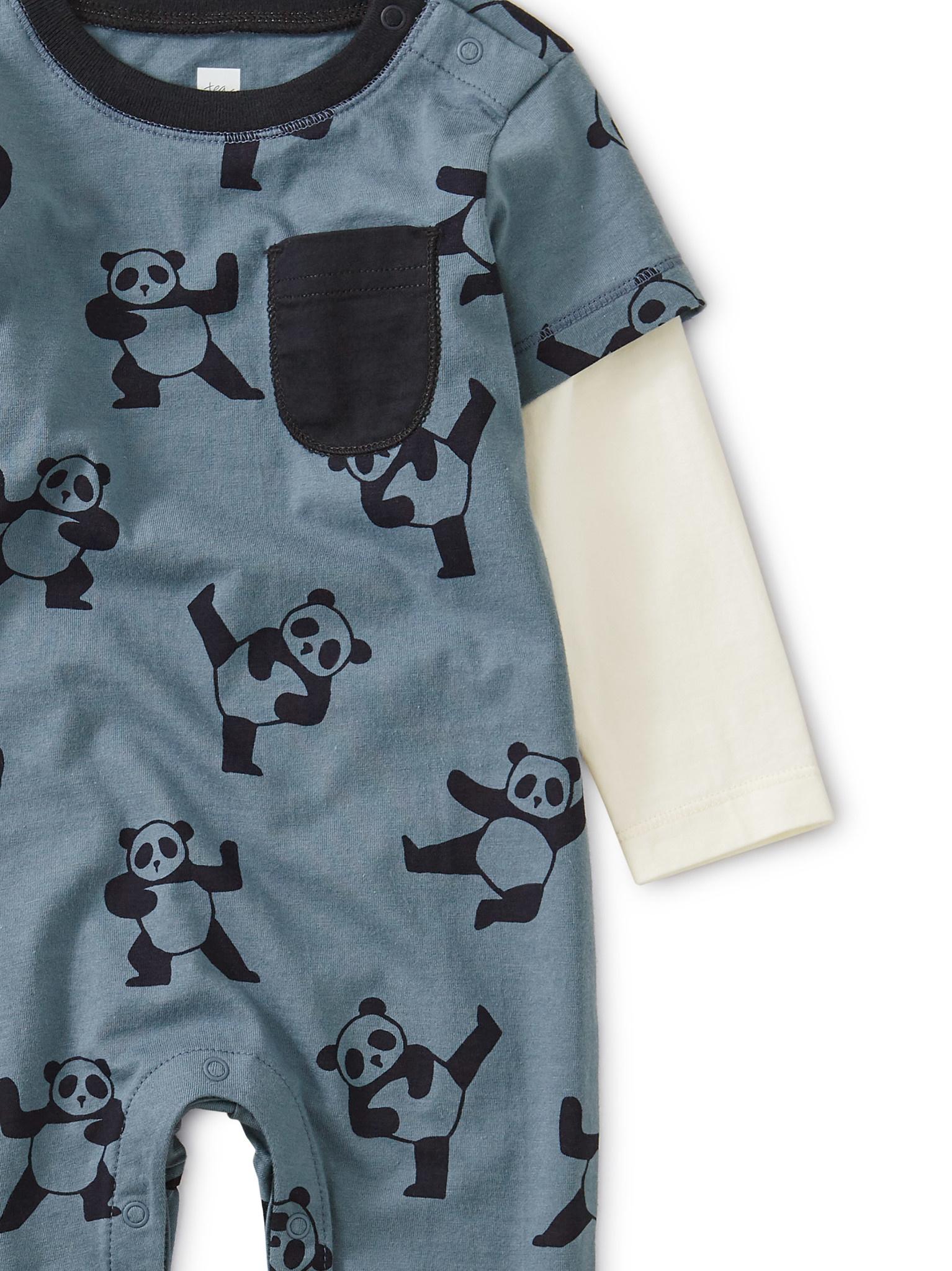 Tea Collection Panda Power Romper