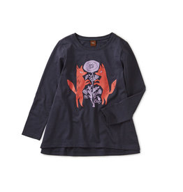 Tea Collection Poppy Foxes Twirl Top