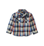 Tea Collection Trekking Plaid Baby Shirt