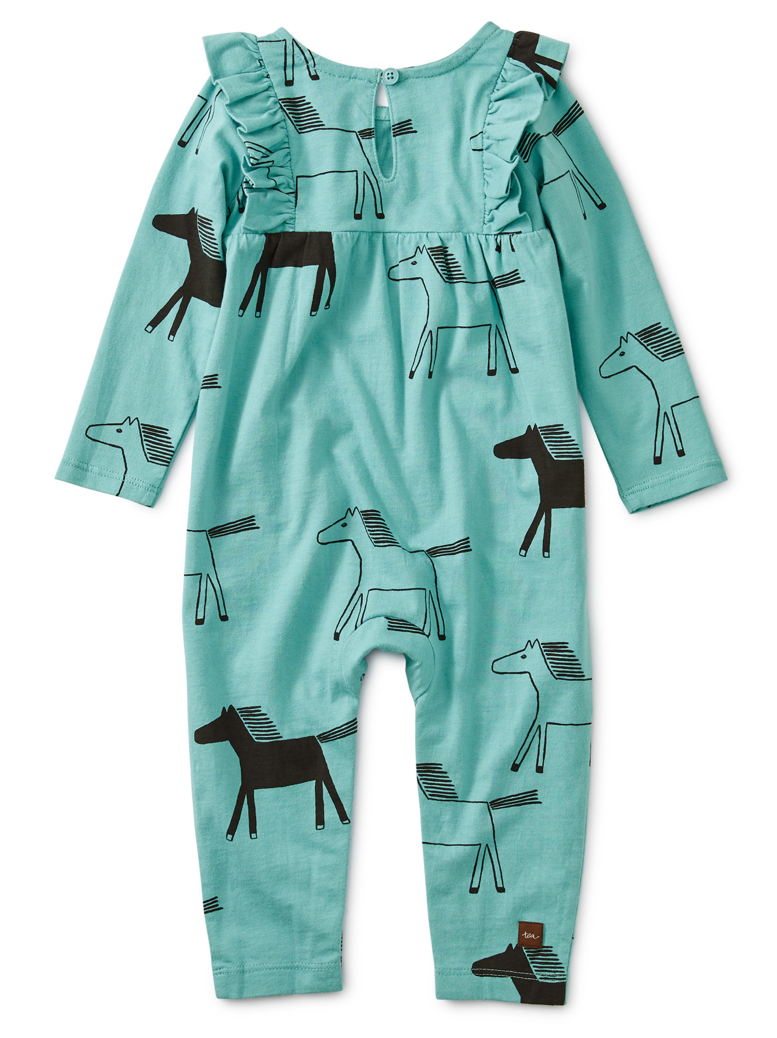 Tea Collection Highland Horses Ruffle Romper