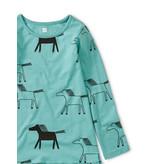 Tea Collection Highland Horses Ruffle Dress