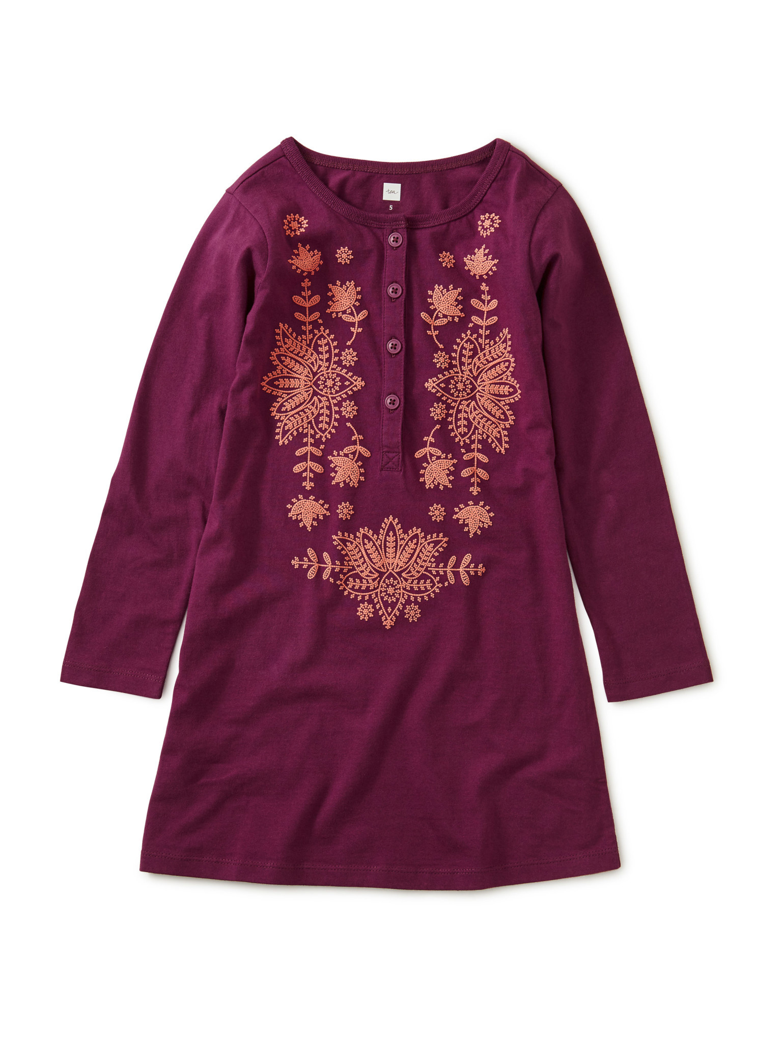 Tea Collection Cosmic Berry Henley Dress