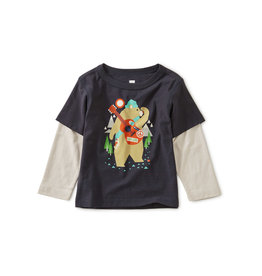 Tea Collection Camp Bear Layered Baby Tee