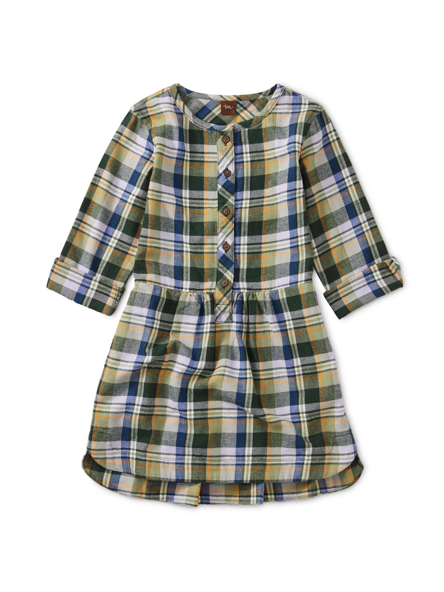Tea Collection Everest Plaid Shirtdress