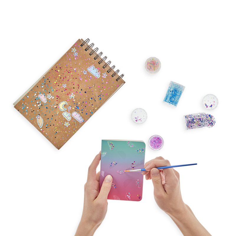 Ooly Mini Dots Pixie Paste Glitter Glue w/ Brush - 6 PC Set