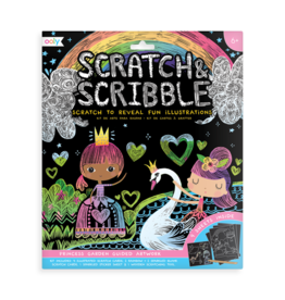 Ooly Scratch & Scribble Art Kit: Princess Garden - 10 PC Set