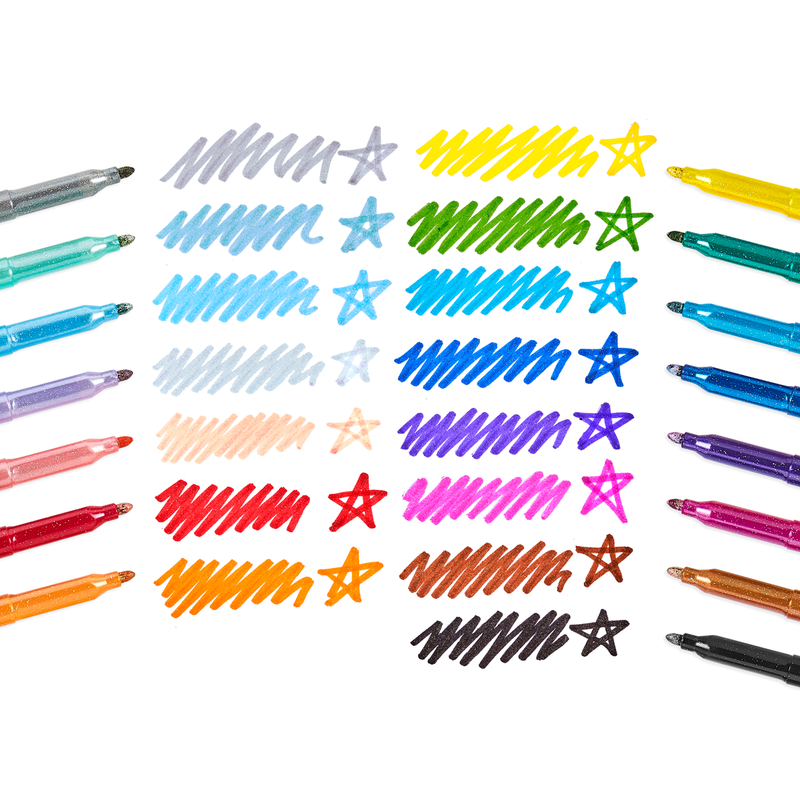 Ooly Rainbow Sparkle Glitter Markers - Set of 15