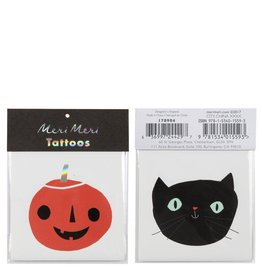 Meri Meri Pumpkin & Cat Tattoos