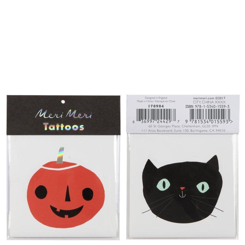 Meri Meri Pumpkin & Cat Tattoos