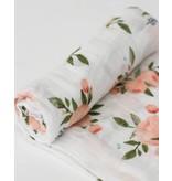 Little Unicorn Swaddle Blanket - Watercolor Roses