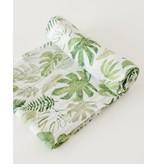 Little Unicorn Swaddle Blanket - Tropical Leaf