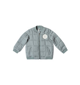 Rylee & Cru Quilted Blue Bomber Jacket Baby