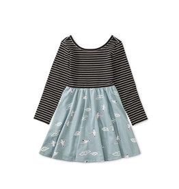 Tea Collection Ballet Skirted Dress - Crane Skies