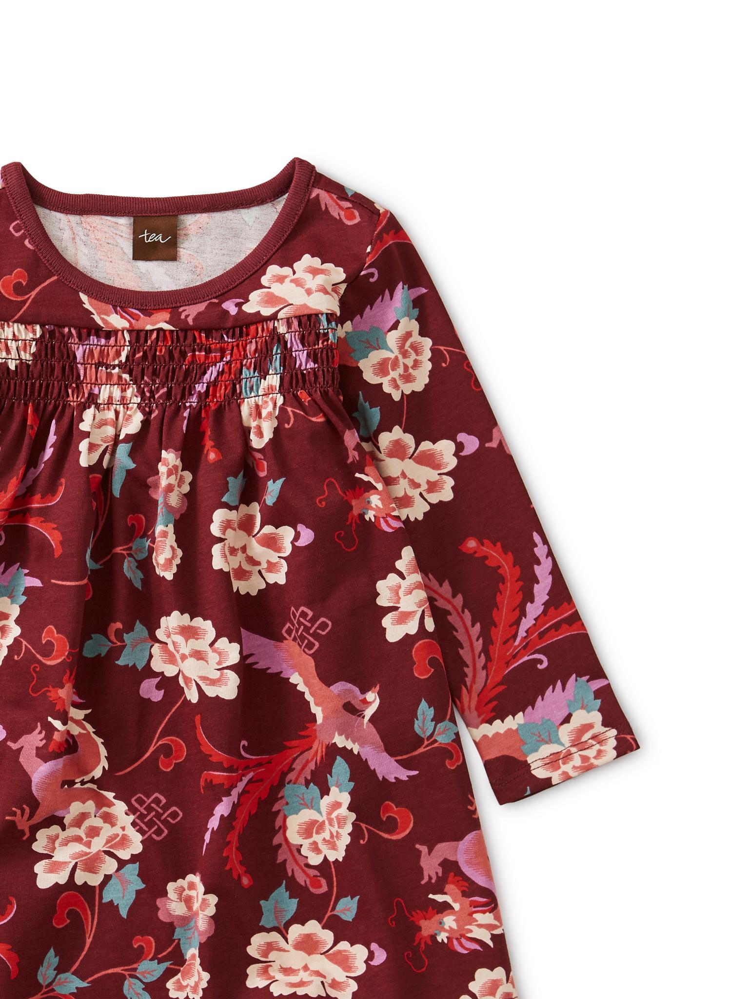 Tea Collection Bhutanese Dragon Smocked Baby Dress