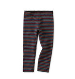 Tea Collection Black Multi Stripe Baby Leggings