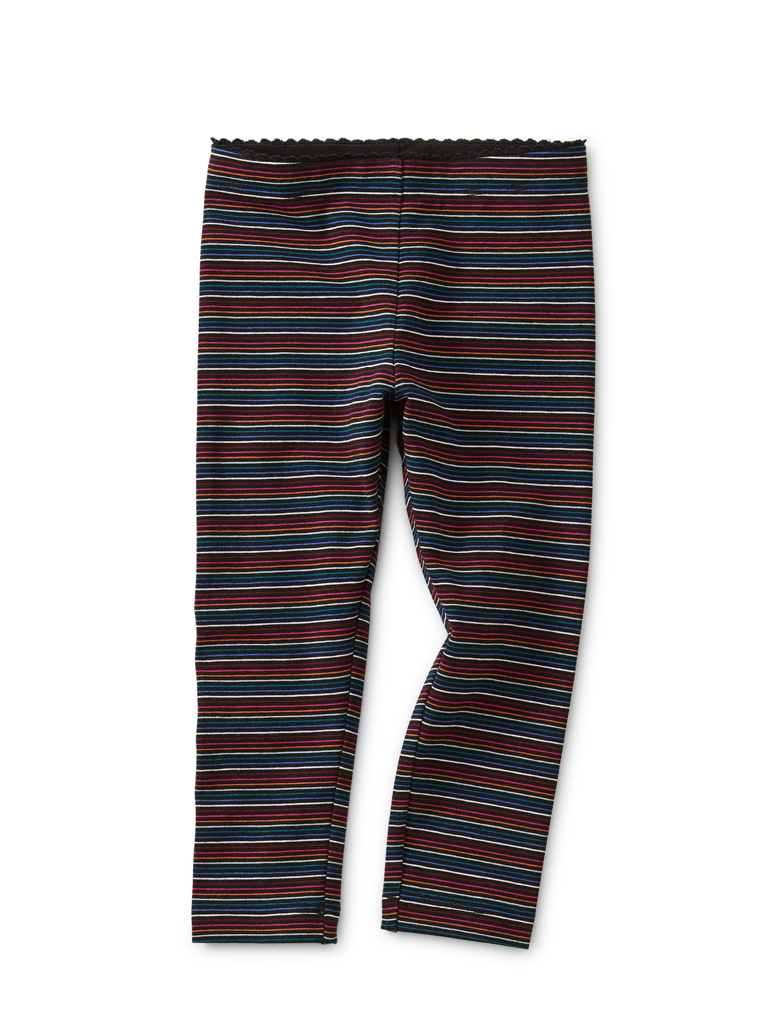 Tea Collection Black Multi Stripe Leggings