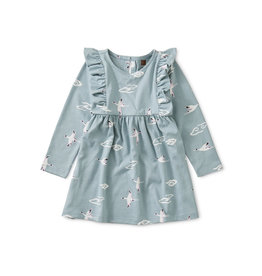 Tea Collection Crane Cloud Ruffle Baby Dress