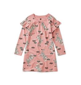Tea Collection Leopard Kingdom Ruffle Sleeve Dress
