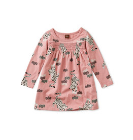 Tea Collection Leopard Kingdom Smocked Baby Dress
