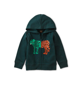 Tea Collection Leopard Tiger Zip Baby Hoodie