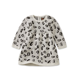 Tea Collection Snow Leopard Baby Sweat Dress