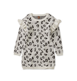 Tea Collection Snow Leopard Sweater Dress