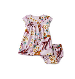 Tea Collection Tibetan Dragons Smocked Baby Dress