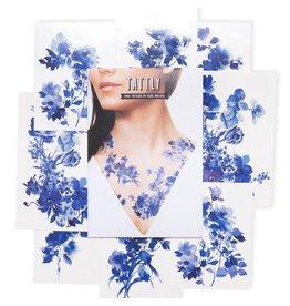 Tattly Blue Florals Set Tattoos