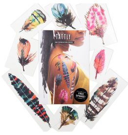 Tattly Flying Colors Feather Tattoos