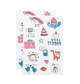Tattly Party Pals Tattoo Sheet