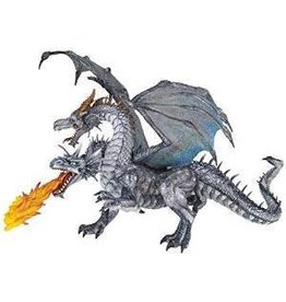 Djeco (Hotaling Imports) Papo 2 Headed Dragon Silver