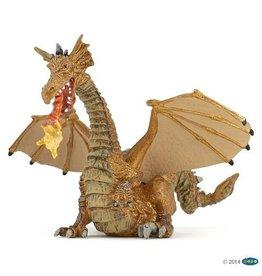 Papo Papo Gold Dragon with Flame