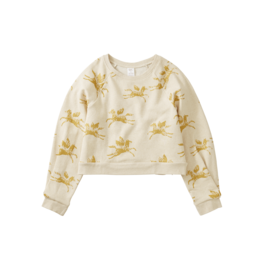 Tea Collection Metallic Wind Horse Sweatshirt