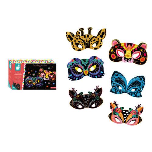 JuraToys (Janod) Scratch Art Animal Mask