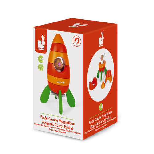 JuraToys (Janod) Magnetic Carrot Rocket