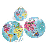 JuraToys (Janod) Double Sided Planet Puzzle 208 pc