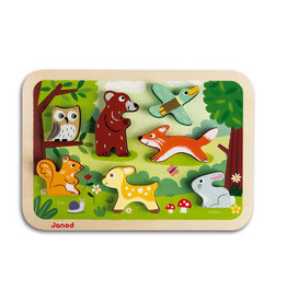JuraToys (Janod) Chunky Puzzle - Forest