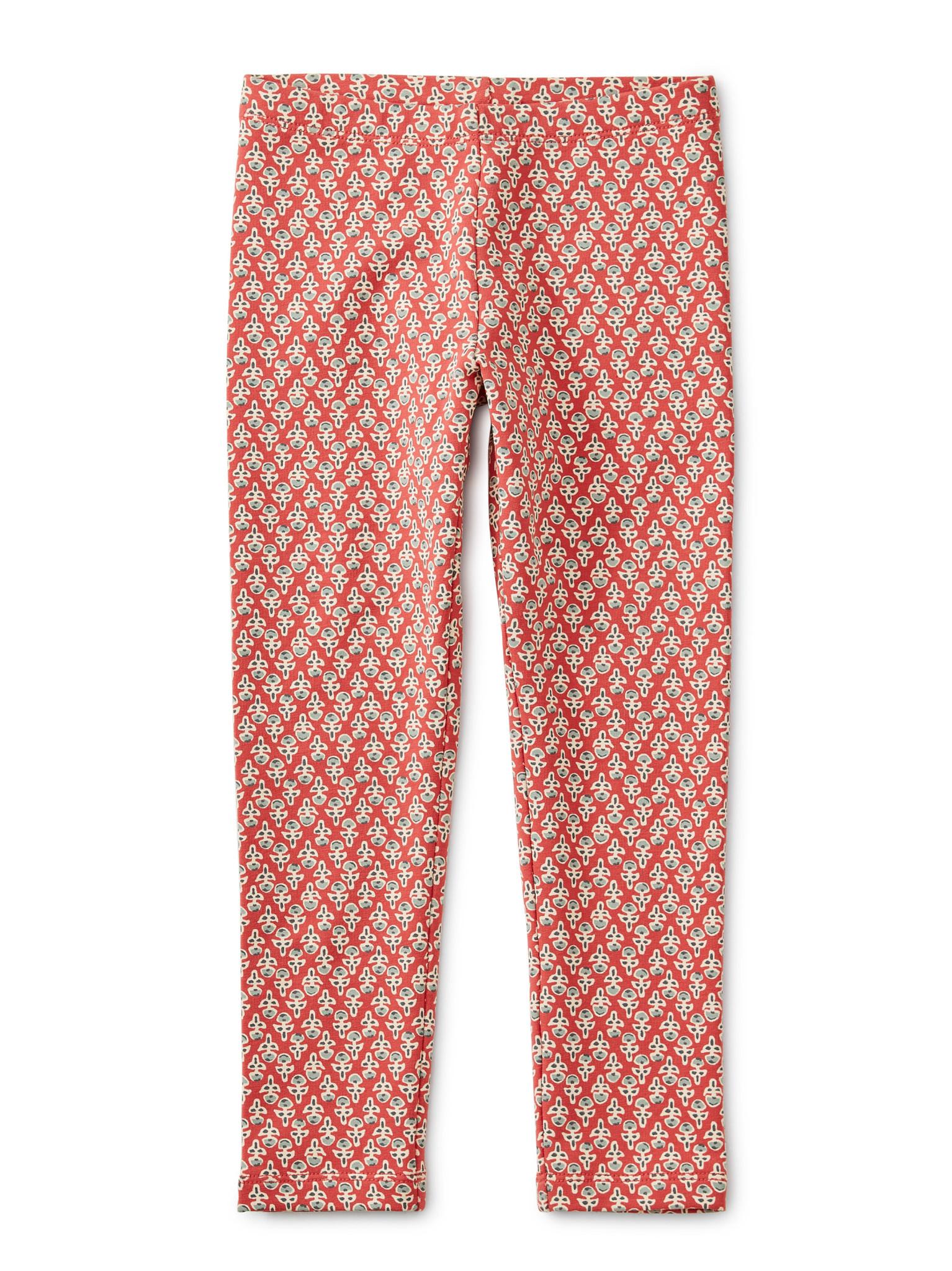 Tea Collection Poppy Blockprint Cozy Leggings