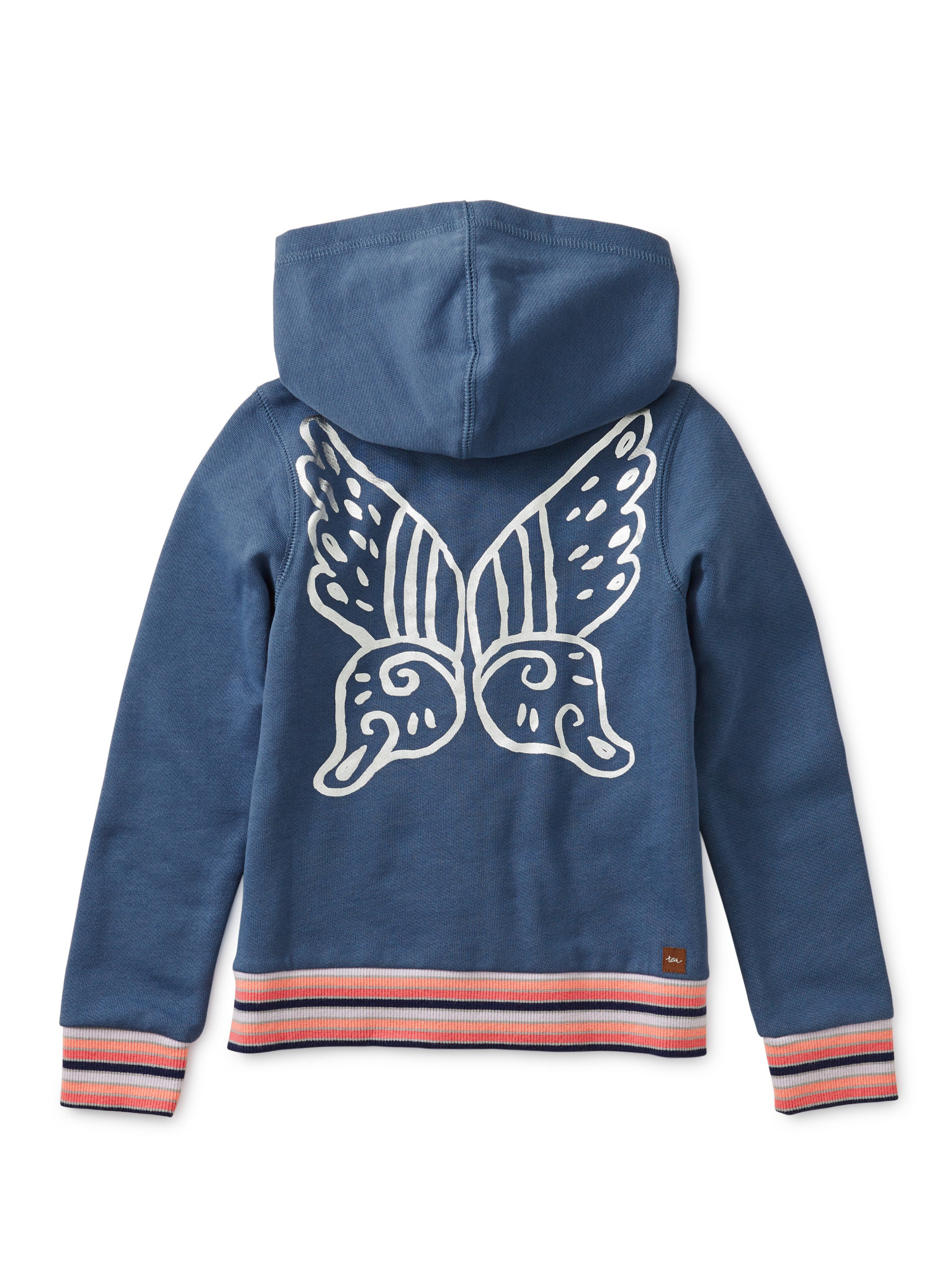 Tea Collection Metallic Winged Zip Hoodie