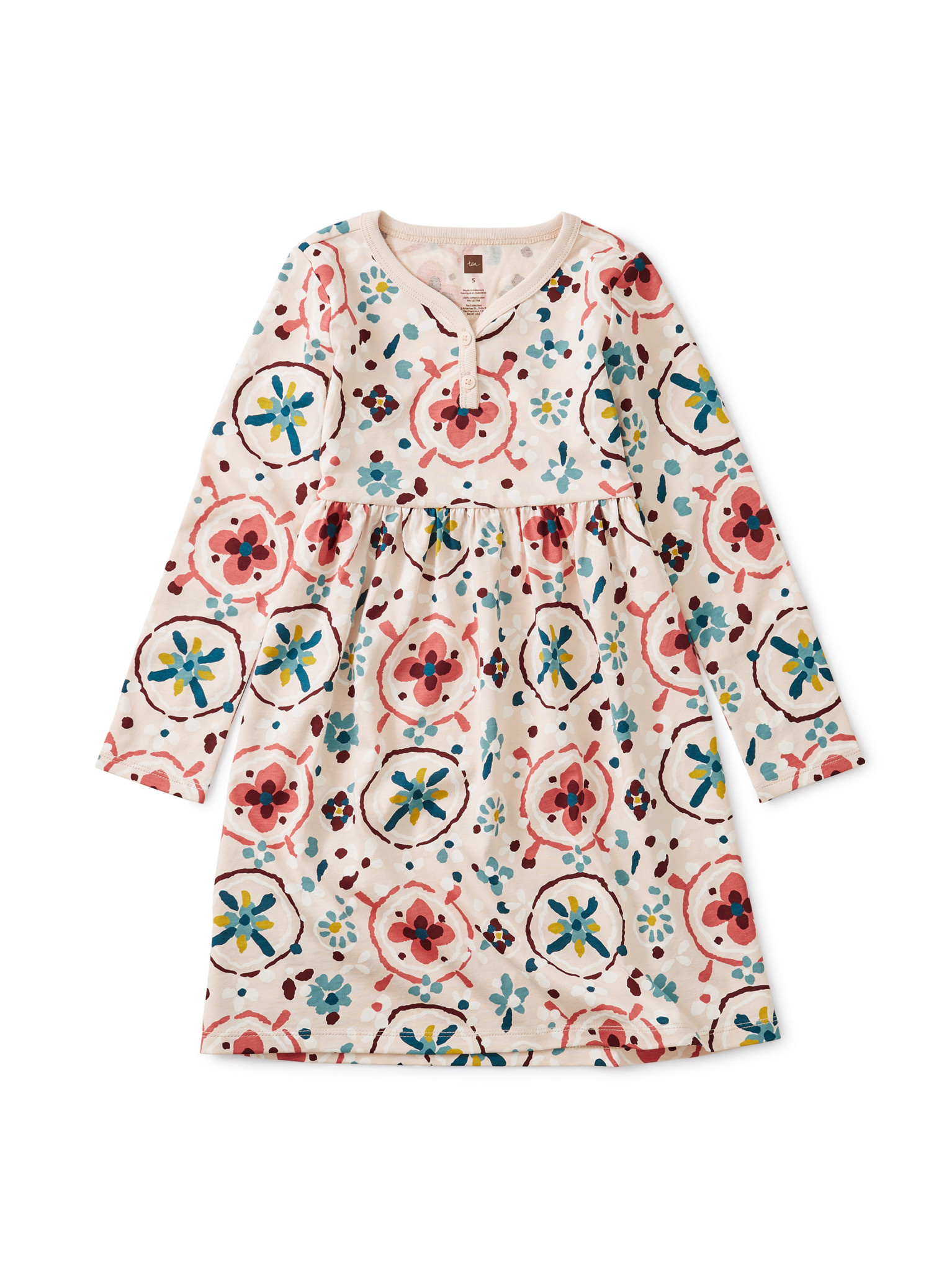 Tea Collection Tibetan Floral Rug Henley Dress